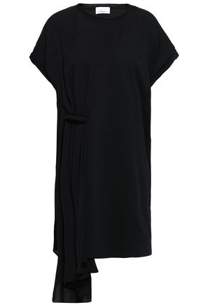 3.1 PHILLIP LIM Draped silk-crepe and cotton-jersey mini dress