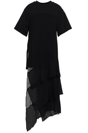3.1 PHILLIP LIM Asymmetric draped cotton-jersey top