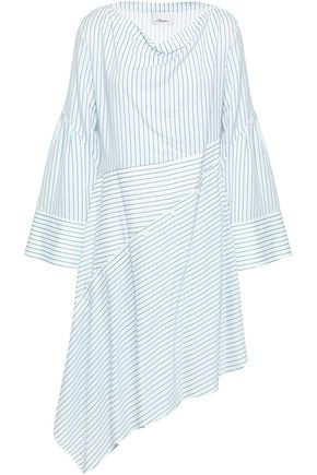 3.1 PHILLIP LIM Asymmetric striped poplin dress