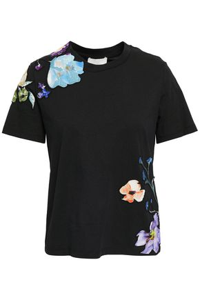 3.1 PHILLIP LIM Appliquéd cotton-jersey T-shirt