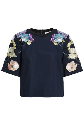 3.1 PHILLIP LIM Embroidered cotton-poplin top