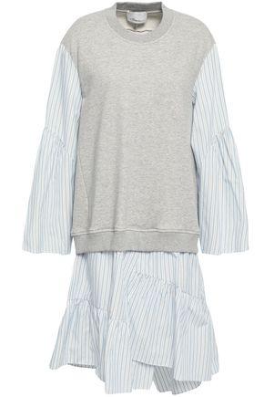 3.1 PHILLIP LIM Poplin-paneled French cotton-terry dress