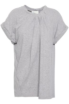 3.1 PHILLIP LIM Pleated mélange cotton-jersey tunic