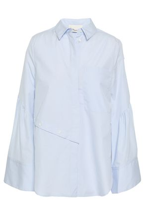 Button Detailed Cotton Poplin Shirt by 3.1 Phillip Lim