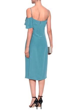 CUSHNIE Ruffled silk midi dress