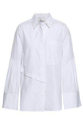 3.1 PHILLIP LIM Button-detailed cotton-poplin shirt