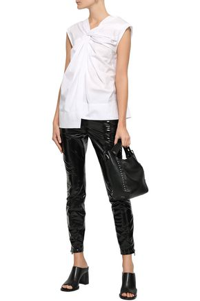 3.1 PHILLIP LIM Twist-front cotton-poplin top
