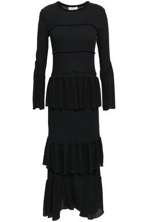 3.1 PHILLIP LIM Shirred stretch-cotton and silk crepe de chine midi dress