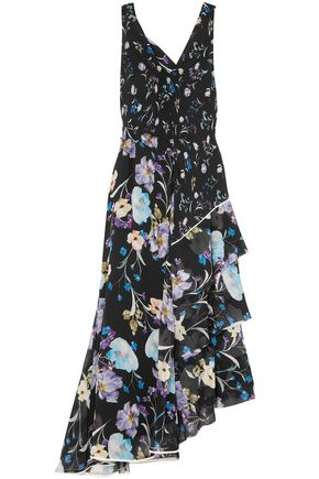 3.1 PHILLIP LIM Cutout tiered floral-print silk-georgette maxi dress