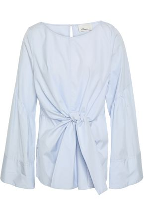 3.1 PHILLIP LIM Tie-front cotton-poplin tunic