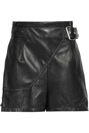 3.1 PHILLIP LIM Belted leather shorts