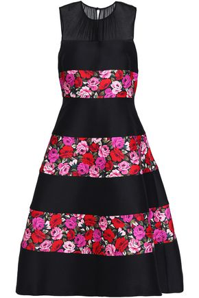 KATE SPADE New York Floral-print paneled woven dress