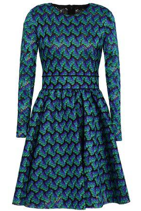 MAJE Royani pleated crocheted mini dress