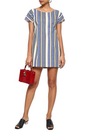 DOLCE & GABBANA Striped cotton mini dress