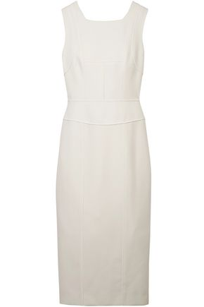 NARCISO RODRIGUEZ Wool-twill midi dress