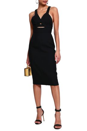 NARCISO RODRIGUEZ Cutout wool-twill dress