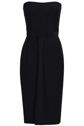 NARCISO RODRIGUEZ Strapless wool-twill dress