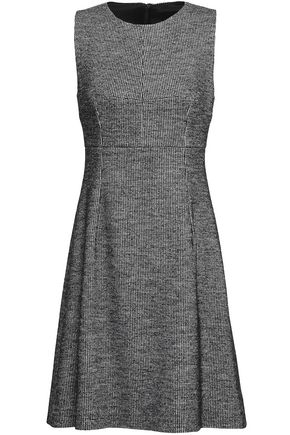 DOLCE & GABBANA Houndstooth wool and cotton-blend dress