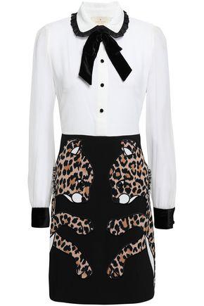 a143907ec47 KATE SPADE New York Pussy-bow embellished crepe mini dress ...