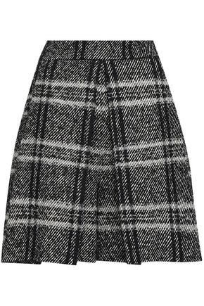 DOLCE & GABBANA Checked tweed mini skirt