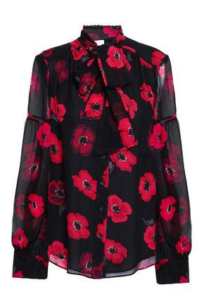 KATE SPADE New York Floral-print silk-chiffon blouse