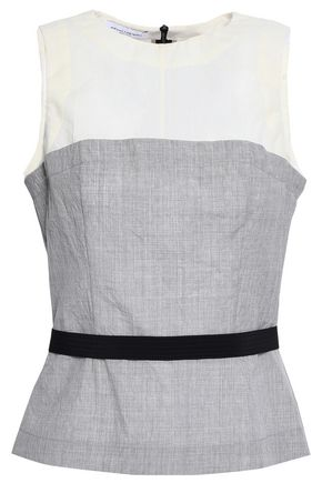 NARCISO RODRIGUEZ Paneled wool top