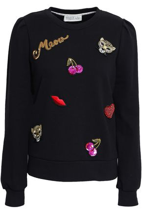 KATE SPADE New York Embellished cotton-blend sweater
