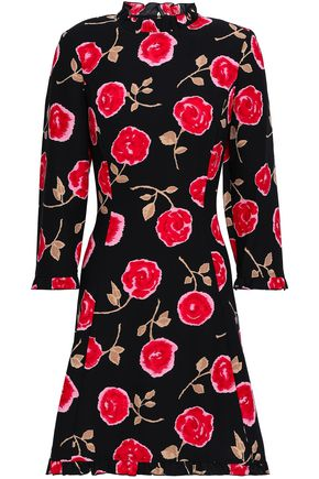KATE SPADE New York Ruffle-trimmed floral-print cady mini dress
