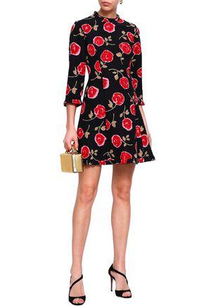 27cf37e78ab KATE SPADE New York Ruffle-trimmed floral-print cady mini dress