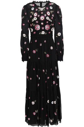 KATE SPADE New York Embellished georgette maxi dress