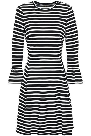 KATE SPADE New York Striped stretch-jersey mini dress