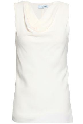 NARCISO RODRIGUEZ Draped silk-crepe top