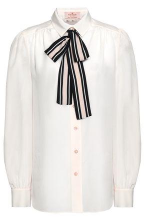 KATE SPADE New York Pussy-bow silk shirt