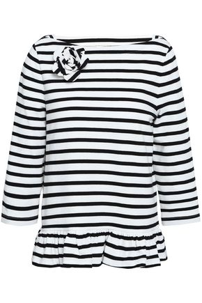 KATE SPADE New York Striped cotton-jersey T-shirt