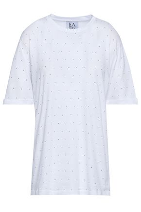 ZOE KARSSEN Embellished cotton-blend jersey T-shirt