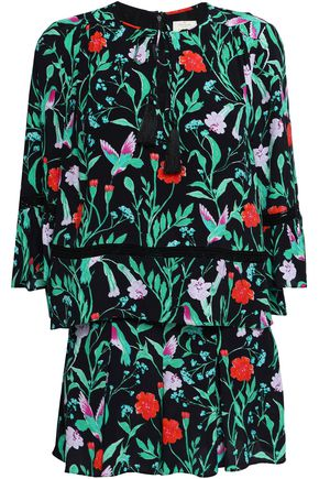 KATE SPADE New York Floral-print silk playsuit