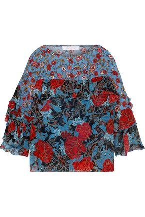 SEE BY CHLOÉ Ruffled floral-print georgette blouse