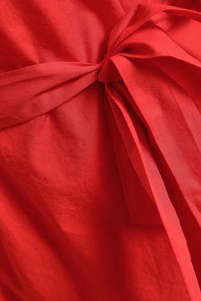 JOIE Colstona ruffle-trimmed cotton-poplin mini dress