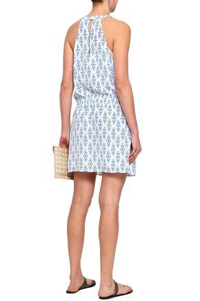 JOIE Printed silk crepe de chine mini dress