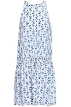 JOIE Printed silk crepe de chine mini dress