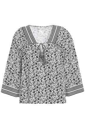 JOIE Culveria floral-print cotton-poplin top