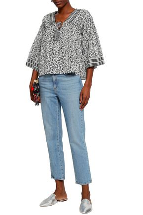 JOIE Culveria floral-print cotton-poplin top