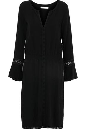 SEE BY CHLOÉ Crochet-trimmed crepe dress