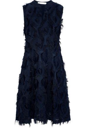 SEE BY CHLOÉ Frayed crepe-jacquard dress