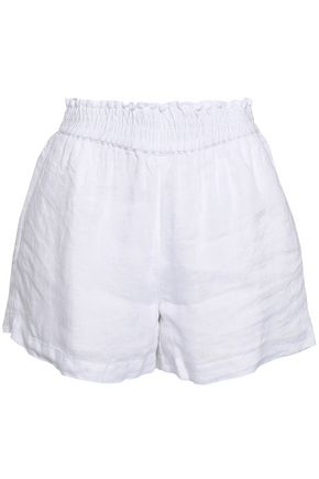 JOIE Shirred linen shorts