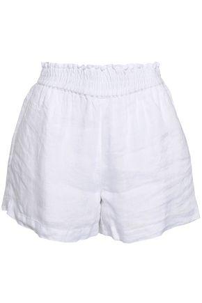 JOIE Shirred linen shorts