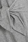 JOIE Tie-front mélange cotton-jersey mini dress