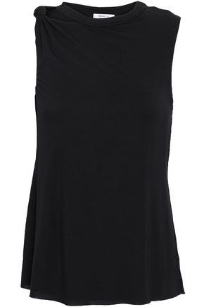 BAILEY 44 Knotted cutout stretch-modal jersey tank