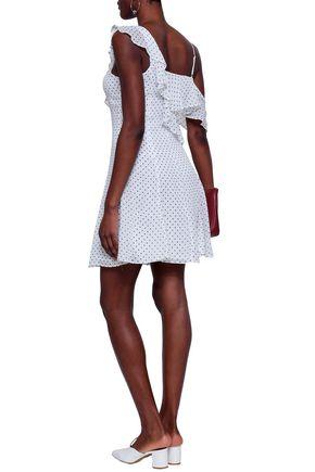 BAILEY 44 Ruffled polka-dot georgette mini dress