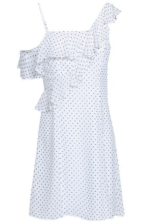 BAILEY 44 Ruffled polka-dot georgette mini dress